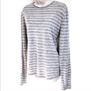 🆕 Vince gray striped long sleeve linen top